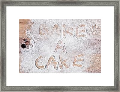 Bake A Cake Framed Print