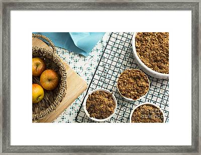 Baked Apple Crumble Framed Print by Charlotte Lake