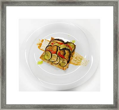Baked Vegetables Framed Print