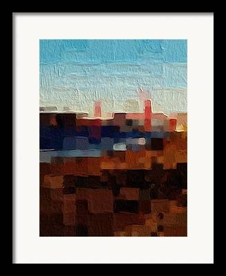 Orange And Brown Designs Framed Prints