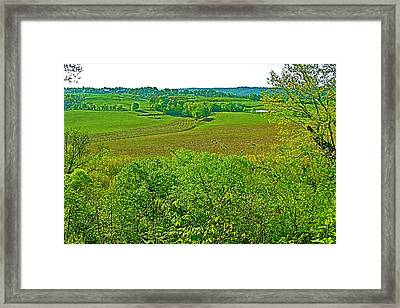 Baker Bluff Overlook On Mile 405 Of Natchez Trace Parkway-tennessee Framed Print by Ruth Hager