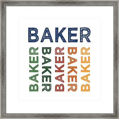 Baker Cute Colorful Framed Print