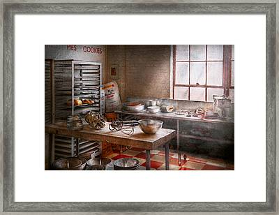 Baker - Kitchen - The Commercial Bakery  Framed Print by Mike Savad