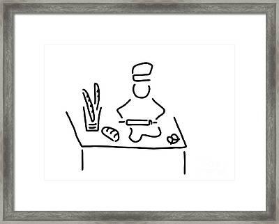 Bakers Bread Bake Framed Print