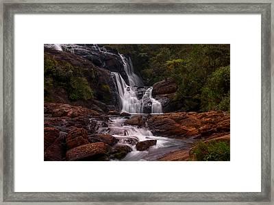 Bakers Fall II. Horton Plains National Park. Sri Lanka Framed Print by Jenny Rainbow