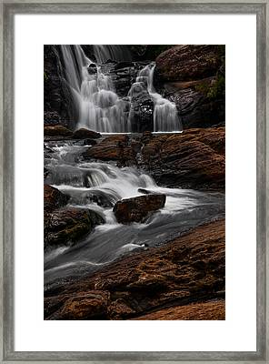 Bakers Fall IIi. Horton Plains National Park. Sri Lanka Framed Print by Jenny Rainbow