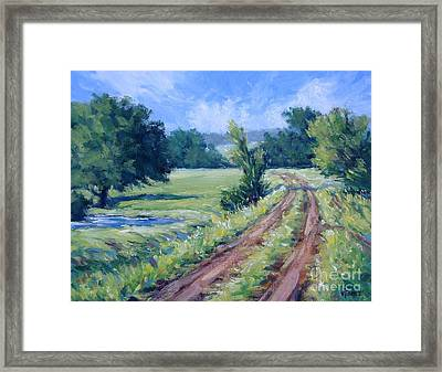 Bakers Ranch Road Framed Print by Vickie Fears