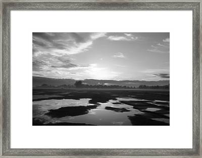 Framed Print featuring the photograph Bakersfield In Black And White by Meghan at FireBonnet Art