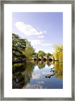 Bakewell Bridge - Over The River Wye Framed Print