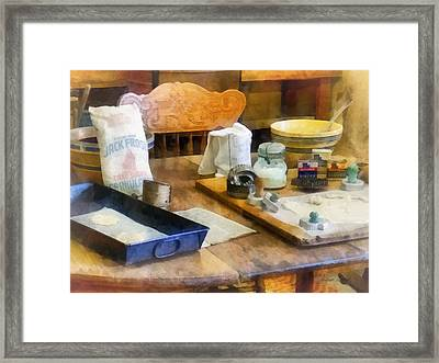 Baking Cookies Framed Print