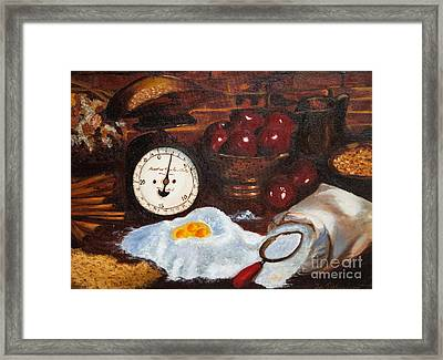Baking From Scratch Framed Print