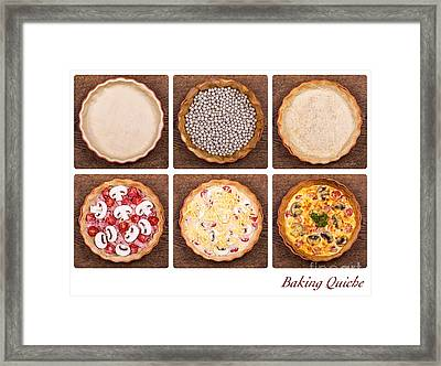 Baking Quiche Framed Print by Jane Rix