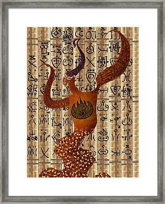 Bakkheia Framed Print by Michael Fitzpatrick