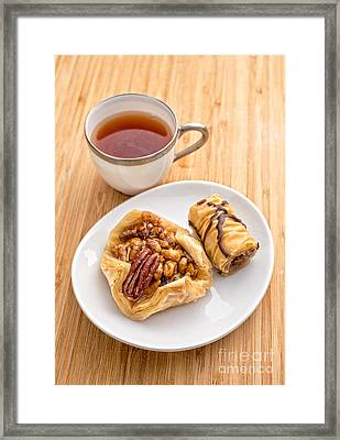 Baklava Tea Break Framed Print by Edward Fielding
