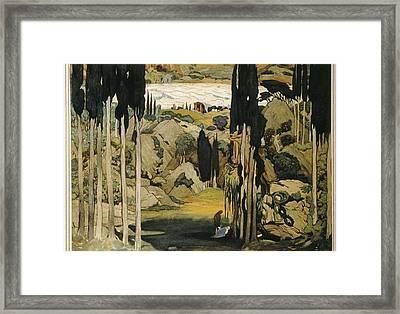 Bakst, L�on 1866-1924. Daphnis Et Framed Print by Everett
