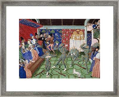 Bal Des Ardents, 1393 Framed Print by British Library