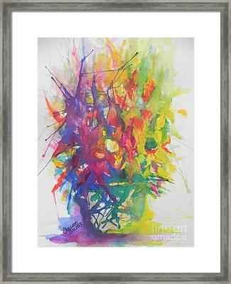 Balance Brings Happiness Framed Print by Chrisann Ellis