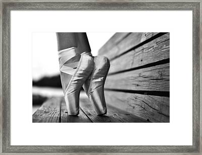 balance BW Framed Print by Laura Fasulo