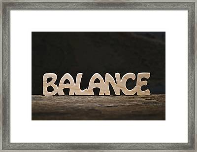 Balance Framed Print by Donald  Erickson