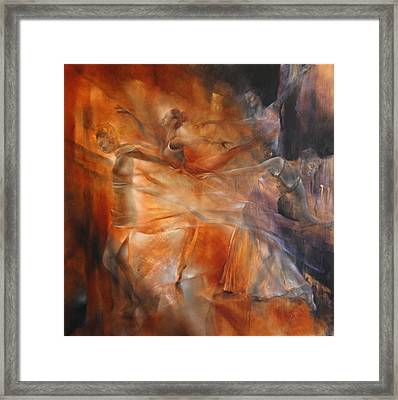 Balance - Four Dancers Framed Print
