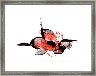 Balance - Modern Abstract Art Painting On Paper Framed Print