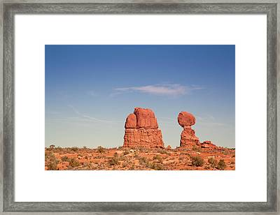 Balance Rock Framed Print