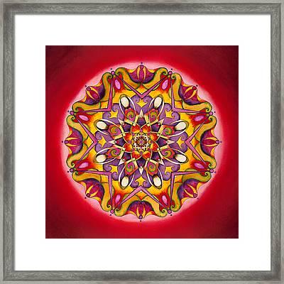 Balance - Root Chakra Mandala Framed Print by Vikki Reed