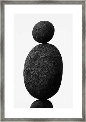 Balance The Stones  Framed Print