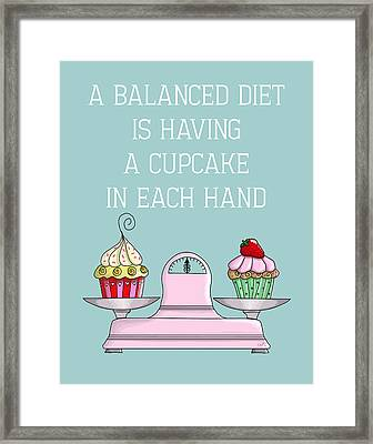 Balanced Diet Framed Print by Kelly McLaughlan