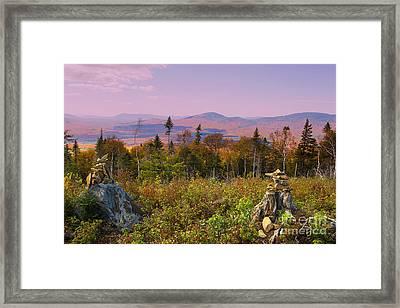 Balanced Living In Maine Framed Print by Brenda Giasson