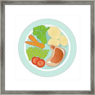 Balanced Meal Framed Print