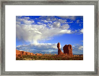 Balanced Rock Framed Print