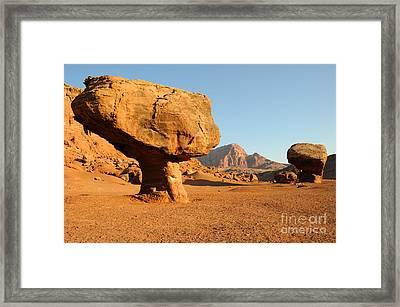 Balanced Rock Below Vermilion Cliffs Framed Print by Gary Whitton