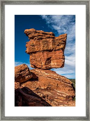 Balanced Rock Garden Of The Gods Framed Print by Paul Freidlund