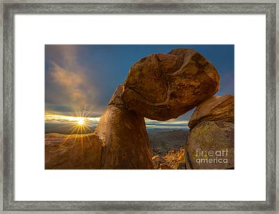 Balanced Rock Framed Print by Inge Johnsson