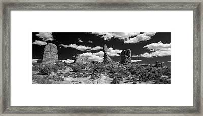 Framed Print featuring the photograph Balanced Rock by Larry Carr