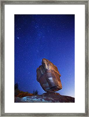 Balanced Rock Nights Framed Print by Darren  White