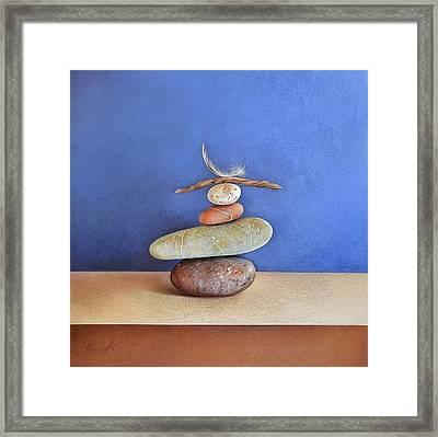 Balancing Act Framed Print by Elena Kolotusha
