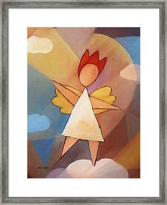 Balancing Angel Framed Print