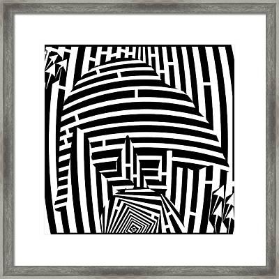 Balancing Cat Maze Framed Print by Yonatan Frimer Maze Artist