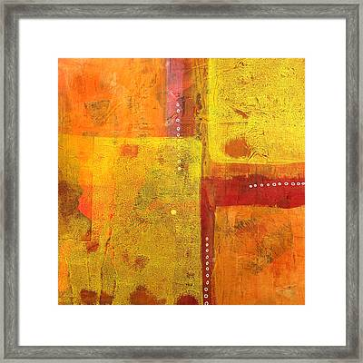 Balancing Framed Print by Nancy Merkle