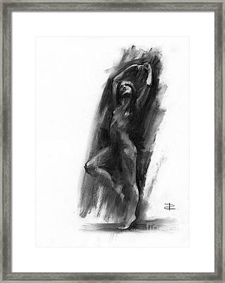 Framed Print featuring the drawing A Dance Of Balance by Paul Davenport
