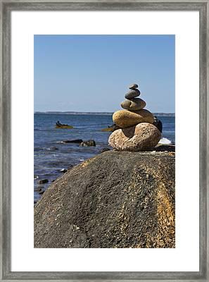 Balancing Rock 2 Framed Print by Rosie McCobb