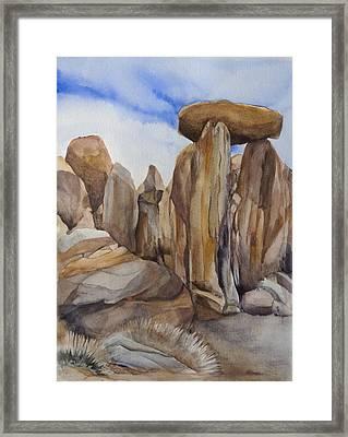 Joshua Tree Balancing Rock Framed Print