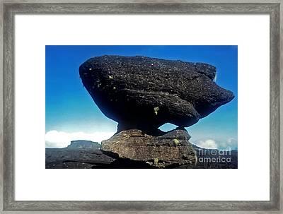 Balancing Rock Framed Print by Steven Valkenberg