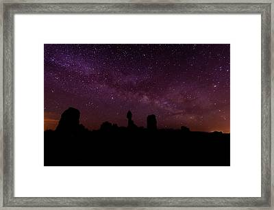 Balancing The Universe Framed Print by Silvio Ligutti