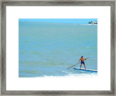 Framed Print featuring the photograph Balancing by Zinvolle Art