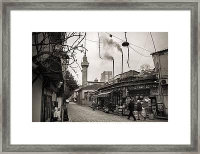Balat Neighborhood In Istanbul Framed Print