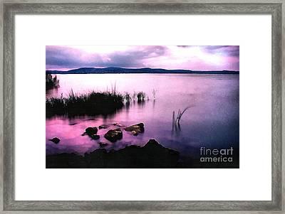 Balaton By Night Framed Print by Odon Czintos