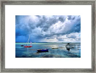 Balaton Lake Framed Print by Odon Czintos